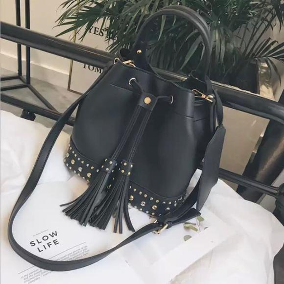 836988024d50 AUSTIN Rivet Tassel Bucket Bag